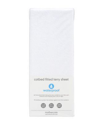 fitted terry cot bed sheet
