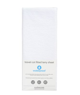 fitted terry travel cot sheet