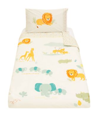 sleepy savannah cot bed duvet set