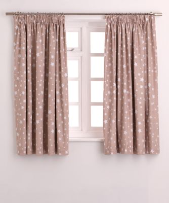 beige star blackout curtains