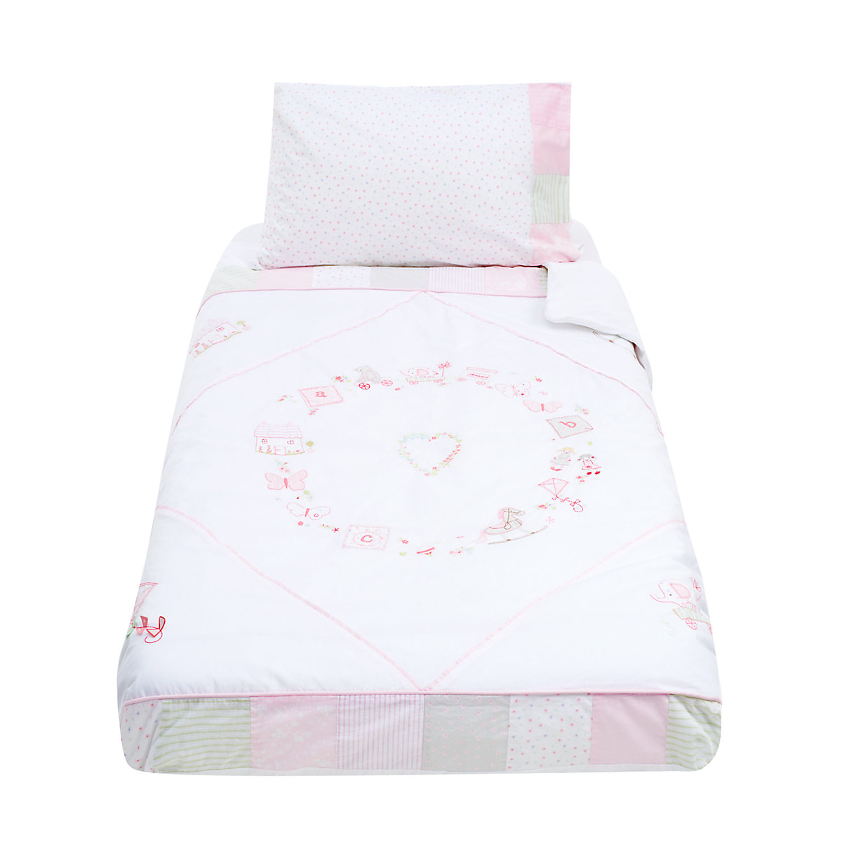 mothercare rosy days cot bed duvet set