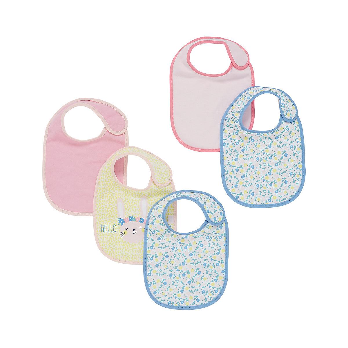 mothercare newborn bunny bibs - 5 pack