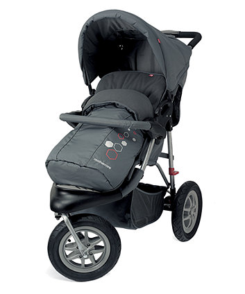 Mothercare Xtreme Pushchair Travel System - Grey Mist