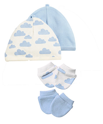 Mothercare Boys Premature Scratch Mitts And Hats – 4 Pack