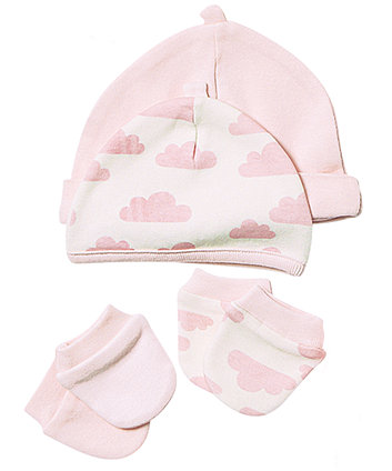 Mothercare Girls Premature Scratch Mitts And Hats- 4 Pack