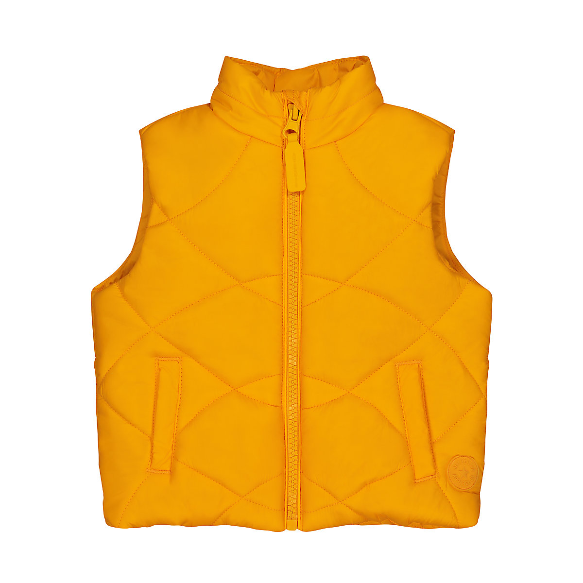 yellow padded gilet