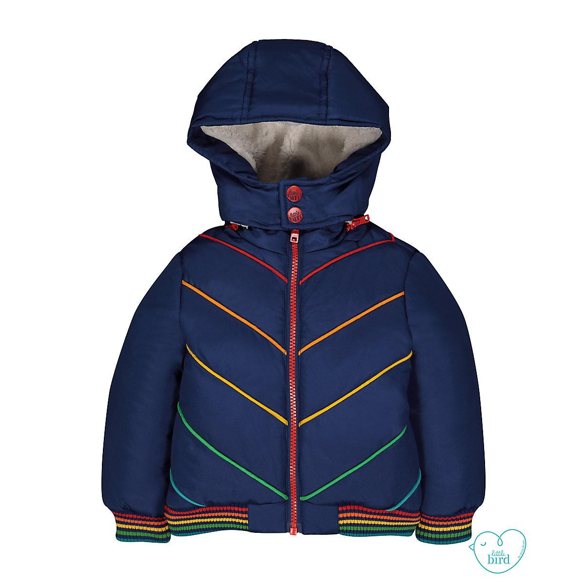little bird padded rainbow jacket