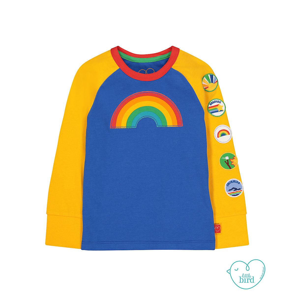 little bird rainbow badge t-shirt