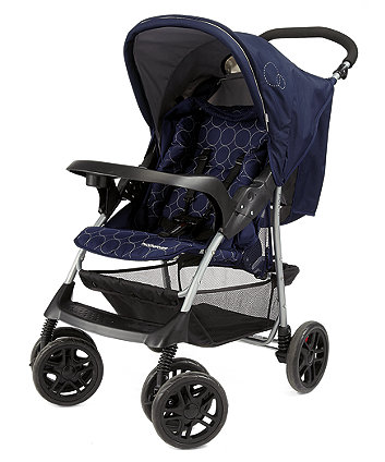 Mothercare U Move Pushchair Travel System - Navy Circles