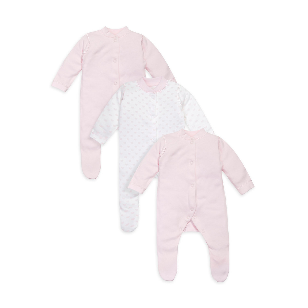 Mothercare My First Pink Sleepsuits 3 pack