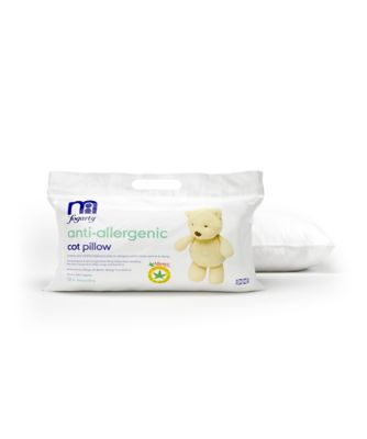 mothercare by fogarty antiallergenic cot pillow