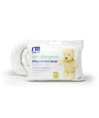 mothercare by fogarty antiallergenic cot bed duvet