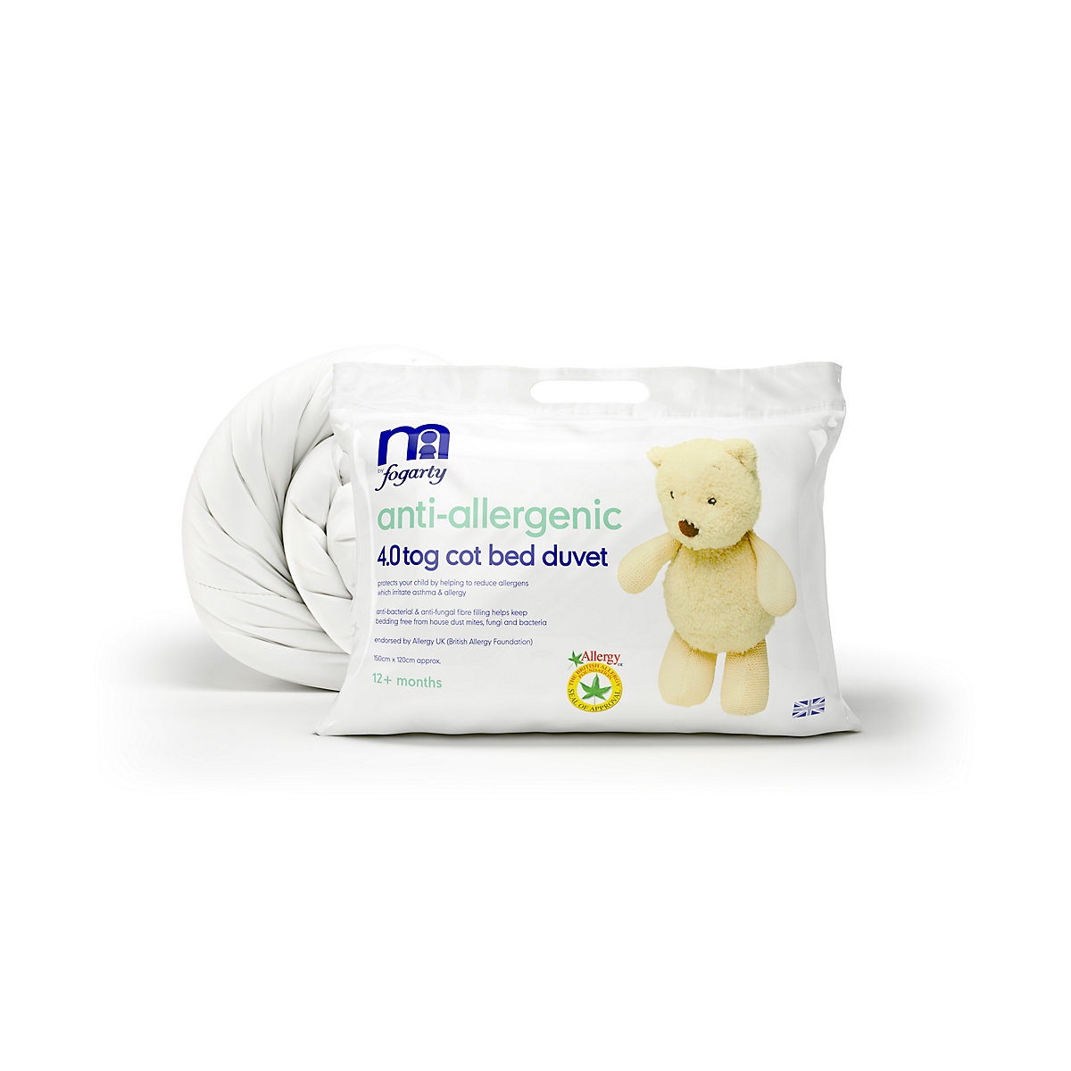 B Baby Bedding By Fogarty Anti-Allergenic Cot Bed Duvet