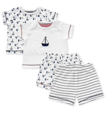 Mothercare Boys Nautical Shortie Pyjama Set - 2pk