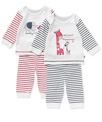Mothercare Unisex Mummy And Daddy Pj – 2pk
