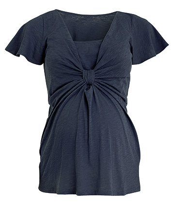 Mothercare Maternity Knotted Front Detail Nursing - Blue