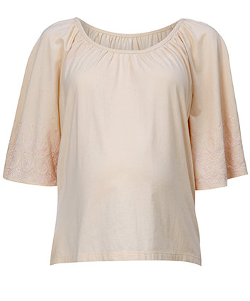 Mothercare Maternity Jersey Batwing Embroidered Top