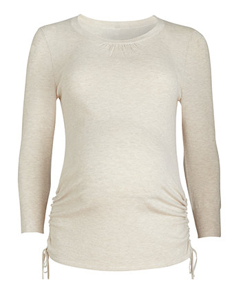 Mothercare Maternity 3/4 Sleeve Oatmeal Jumper
