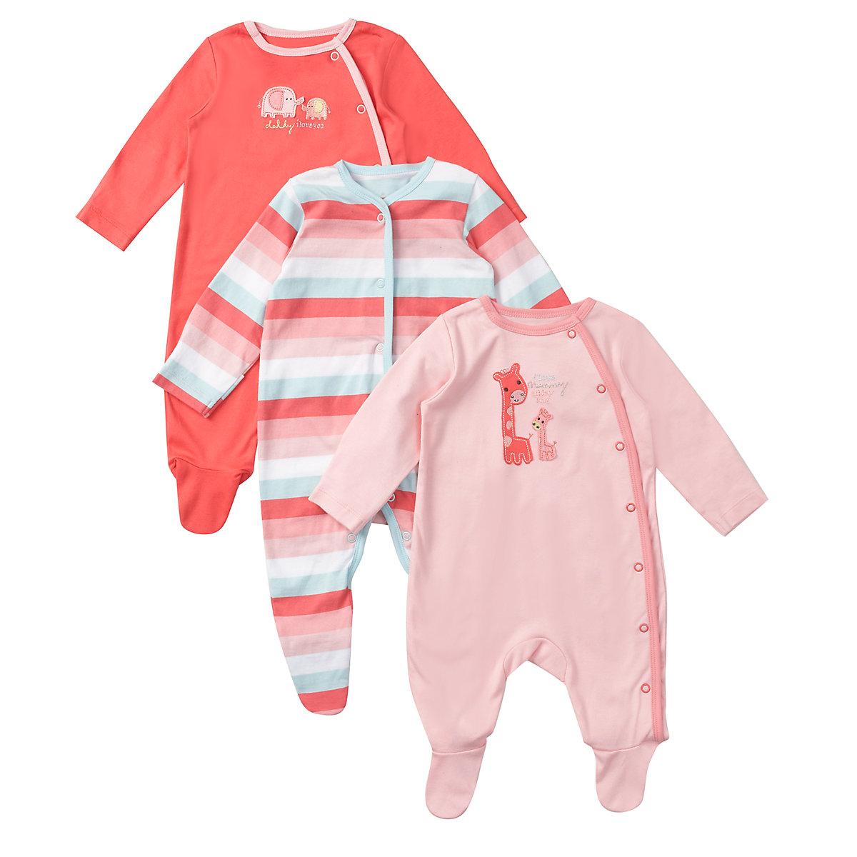 Mothercare Newborns Mummy & Daddy Sleepsuit – 3 Pack Size