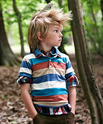 Baby K Multi Colour Stripe Polo T-shirt