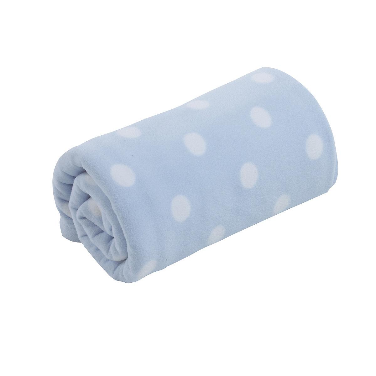 mothercare cot or cot bed fleece blanket - blue