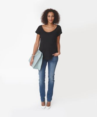 Maternity Under The Bump Indigo Petite Jeans