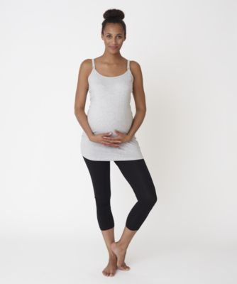 Maternity Nursing Longline Vest � Grey