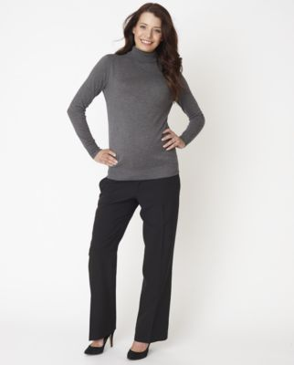 Grey Knit Roll Neck Maternity Jumper