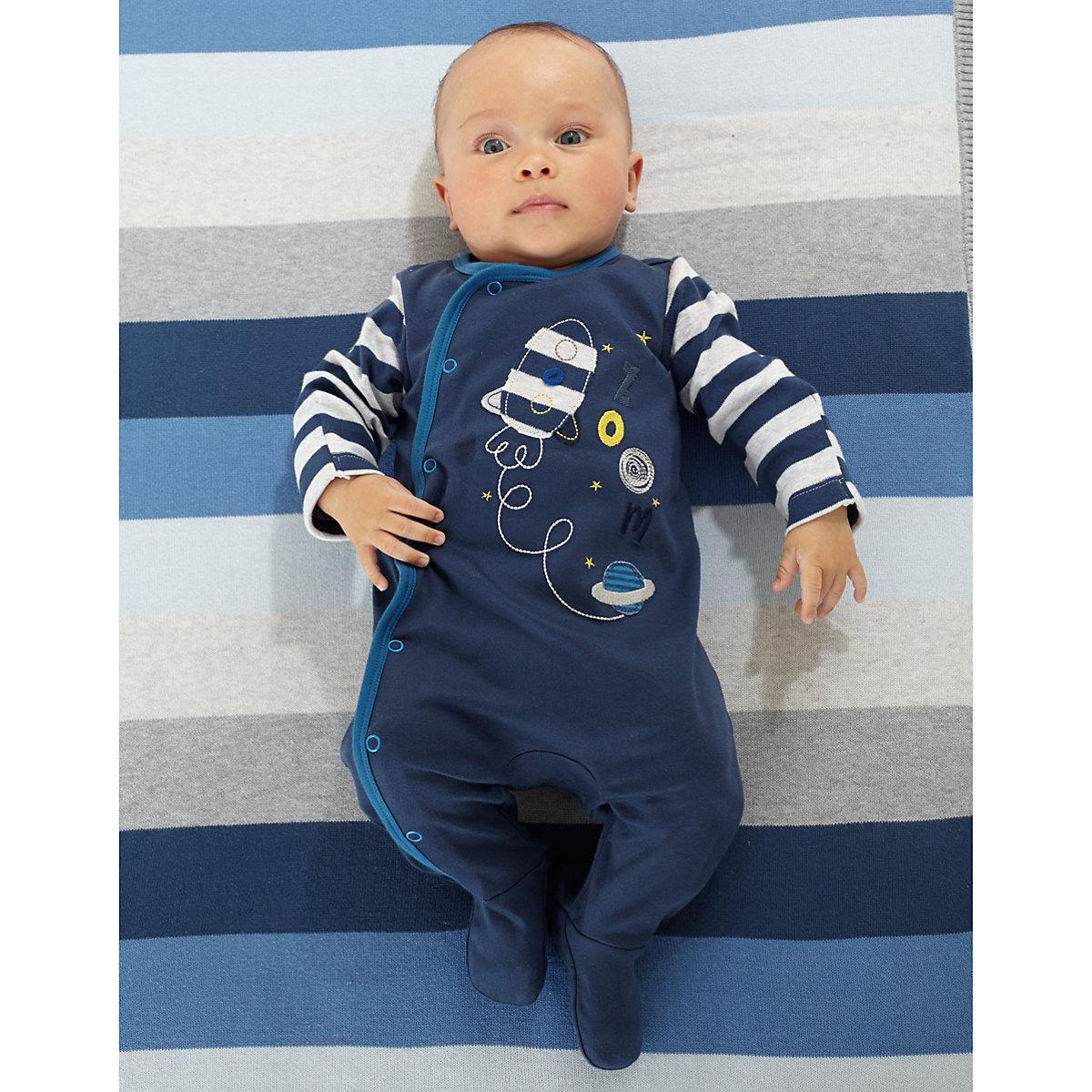 Mothercare Newborns Space Adventure Sleepsuits - 3 Pack