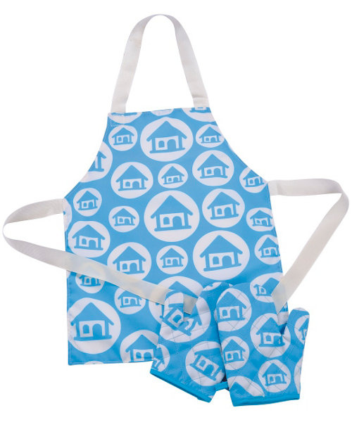 Early Learning Centre Apron and Gloves - Turquoise