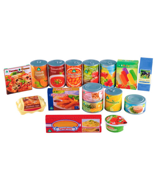 Early Learning Centre Play Food Tins and Groceries