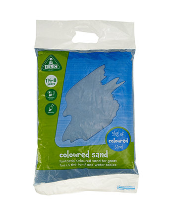 Early Learning Centre Blue Coloured Play Sand - 5kg Bag