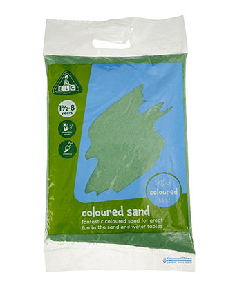 Early Learning Centre Green Coloured Play Sand - 5kg Bag