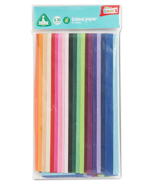 Early Learning Centre Coloured Tissue Paper- 20 Sheets