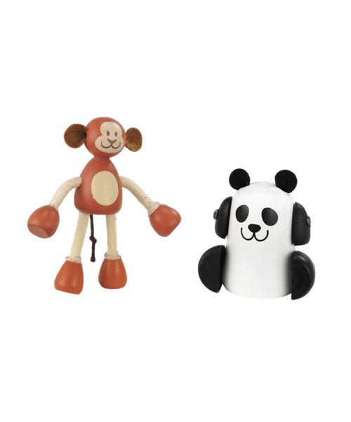 Early Learning Centre Rosebud Monkey and Panda Set