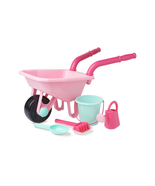 Early Learning Centre Pink Wheelbarrow Set