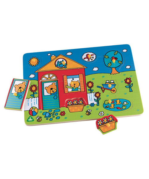 Early Learning Centre Wooden House Lift Out Puzzle