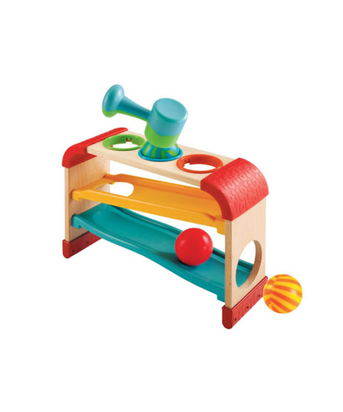 Early Learning Centre Wooden Tap and Tilt Roller Rack