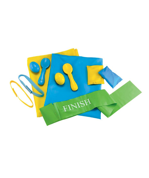 Early Learning Centre Sports Day Set - Blue/Yellow