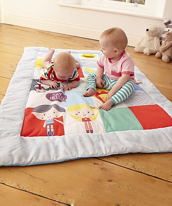 Early Learning Centre Baby Sensory Say Hello Patchwork Activity Mat