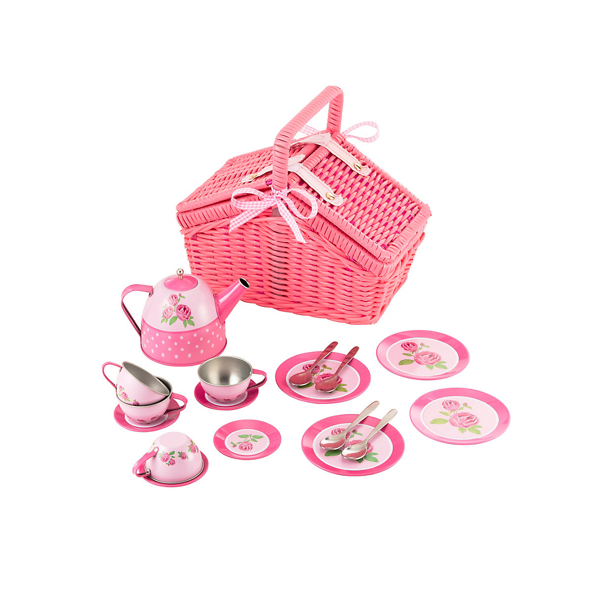 NEW ELC GIRL Tin Tea Set Toy From 3 Years
