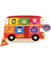 Early Learning Centre Happyland Wooden Bus Puzzle