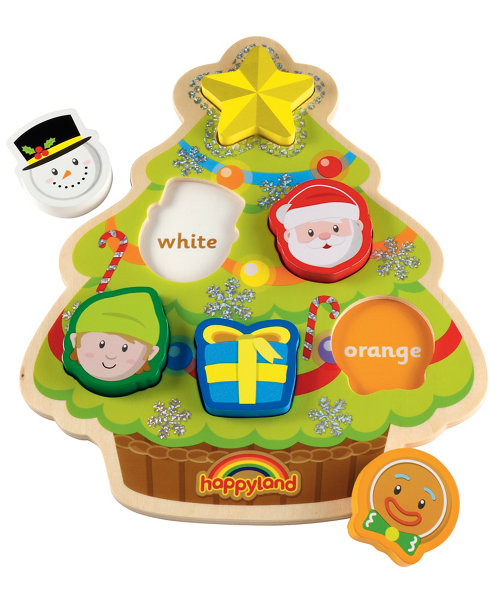 Early Learning Centre Happyland Wooden Christmas Puzzle