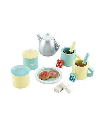 Early Learning Centre Wooden Teatime Set Yellow/Green