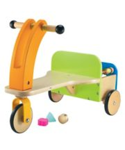 Early Learning Centre Wooden Trike And Trailer