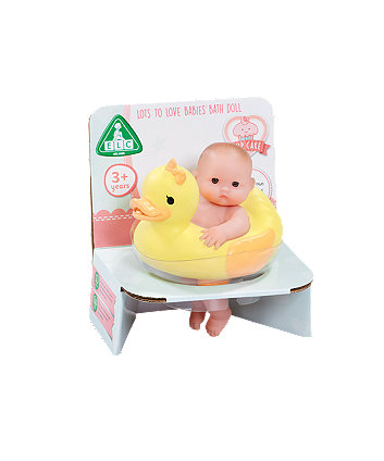 Early Learning Centre Cupcake Tiny Teenies Bath Baby Doll With Duck Ring
