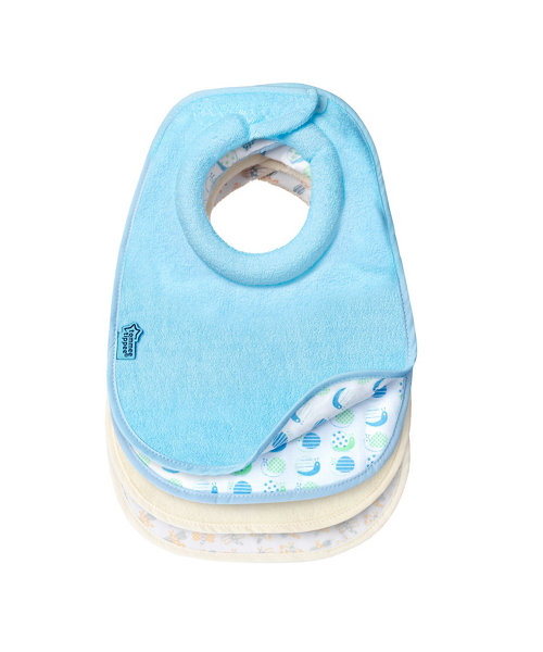 Tommee Tippee Closer to Nature Milk Feeding Bibs 2 Pack - Blue