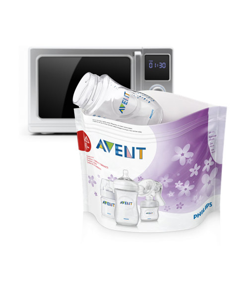 Philips Avent Microwave Steam Steriliser Bags - 5 Pack