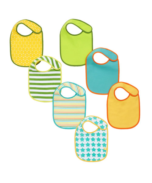Mothercare Newborn Bibs - 7 Pack