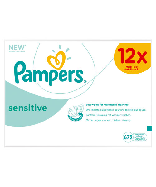Pampers Sensitive Baby Wipes - 12 x 56 Pack *Online Exclusive*